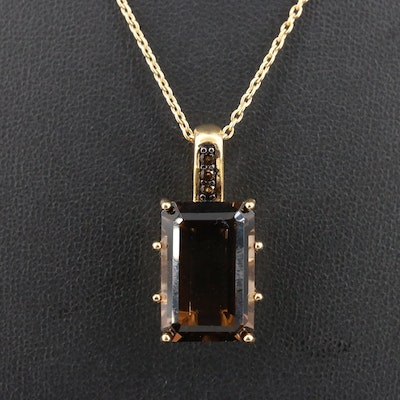 Sterling Silver Smoky Quartz Necklace