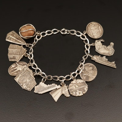 Sterling Travel Charm Bracelet