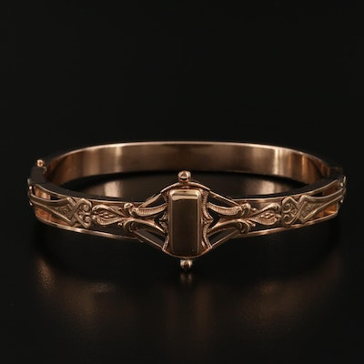 Early 1900s Scrollwork Hinged Bracelet