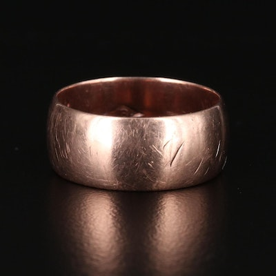 10K Yellow Gold Wide Band
