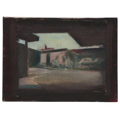 "Blair Gibeau Abstract Mixed Media Artwork ""Terminal I"", 1992"