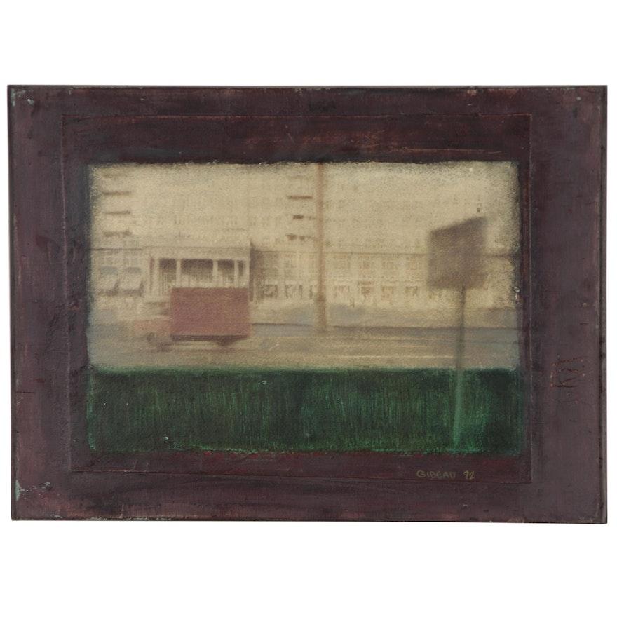"Blair Gibeau Abstract Mixed Media Artwork ""Truck"", 1984"