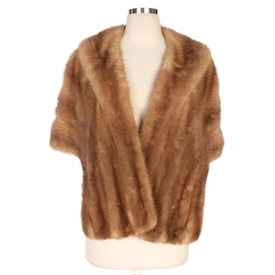Autumn Haze EMBA Mink Fur Stole from Hyman Skurow and Son