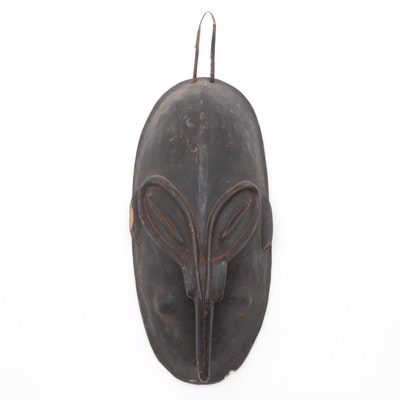 New Guinea Style Carved Wood Long Nosed Mask