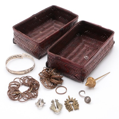 Asian Cultural Jewelry with Woven Baskets