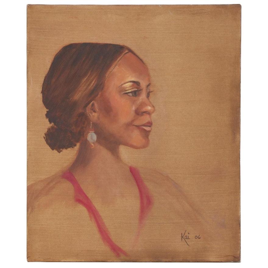 Kai Binford Oil Painting Portrait of a Woman, 2006