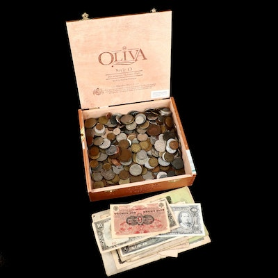 Vintage Foreign Coins and Currency