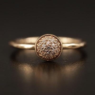 Pandora 14K Cubic Zirconia Ring