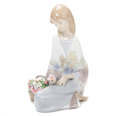 """Lladró Collector's Society """"Flower Song"""" Porcelain Figurine, 1988"""