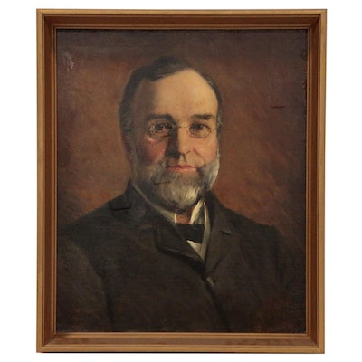 Silas Jerome Uhl Oil Painting of Dr. A.A. Blount, Early 20th Century