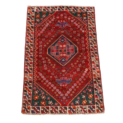 4'2 x 6'6 Hand-Knotted Persian Wool Rug