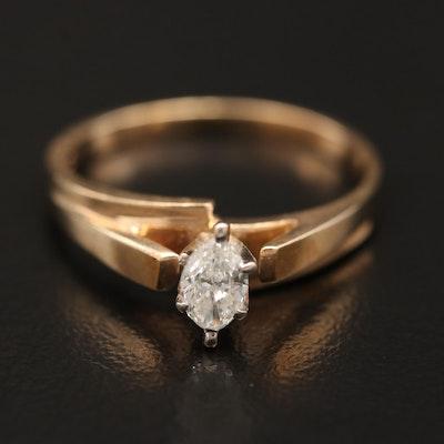 10K 0.23 CT Diamond Solitaire Ring