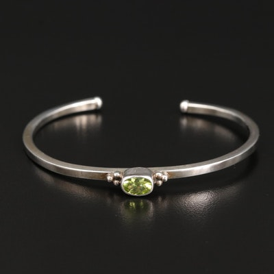 Sterling Silver and Peridot Cuff