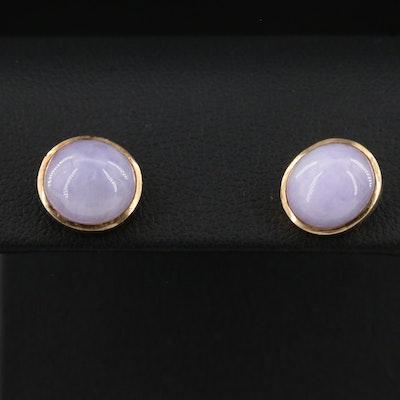 14K Jadeite Stud Earrings