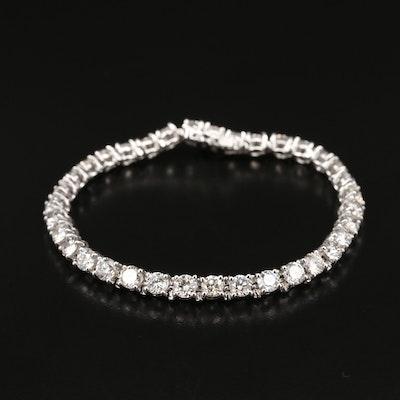 14K 11.55 CTW Diamond Tennis Bracelet