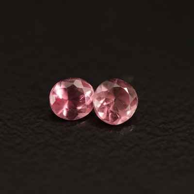 Loose 0.39 CTW Round Faceted Pink Tourmalines