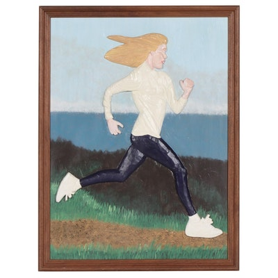 Folk Art Relief of Running Woman, 1995