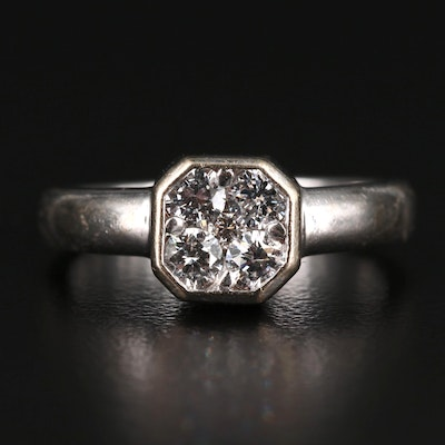 14K Bezel Set Diamond Ring