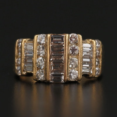 18K 1.61 CTW Seven Channel Diamond Band
