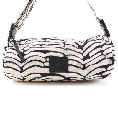 Chanel Sport Black and White Print Nylon Duffle Bag