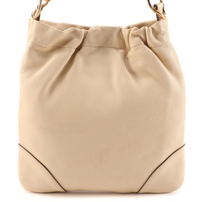 Prada Beige Vitello Daino Leather Shoulder Bag