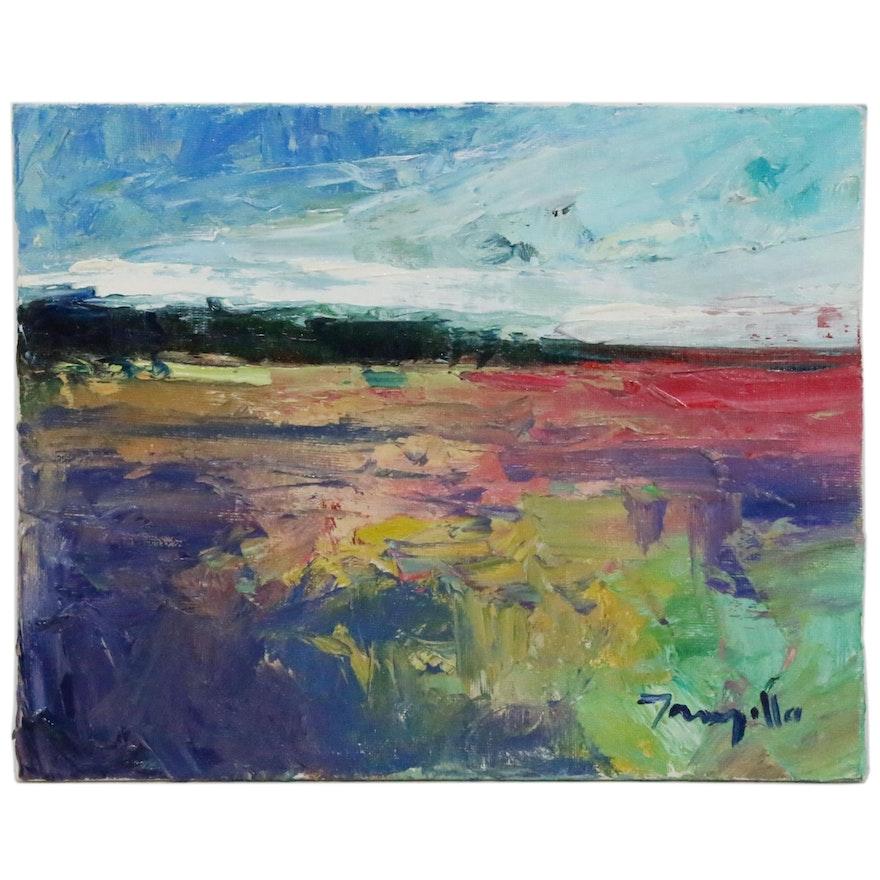 "Jose Trujillo Oil Painting ""New Impressions"", 2014"