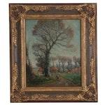 W. B. Rowe Landscape Oil Painting