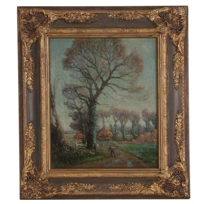 W. B. Rowe Landscape Oil Painting