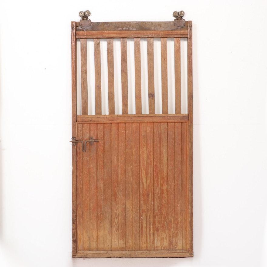 Sliding Horse Stable Door with Original Hardware