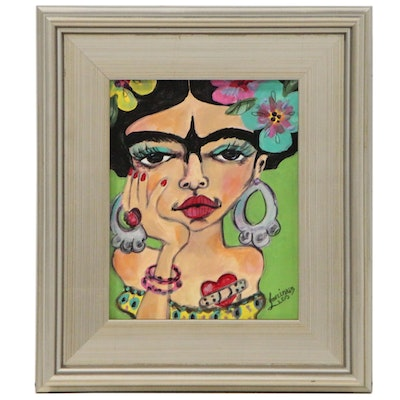 "Laurimar Alicea Acrylic Painting ""Frida"", 2015"