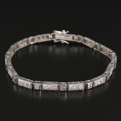 Sterling Cubic Zirconia Tennis Bracelet