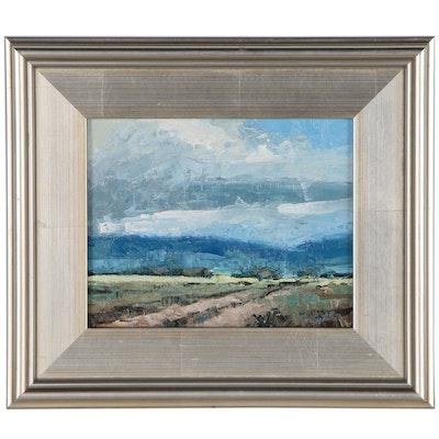 Jose Trujillo Pastoral Landscape Oil Painting, 21st Century