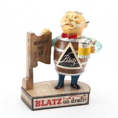 Blatz Milwaukee Beer Cast Metal Backbar Advertising Sign, Mid-20th Century
