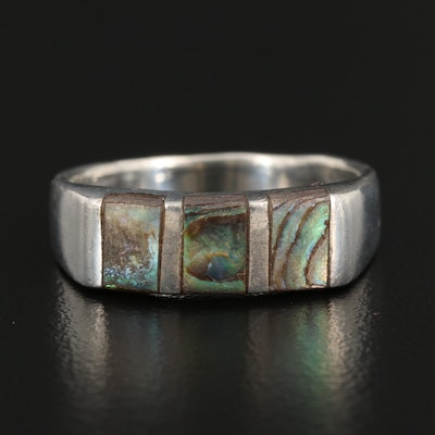 Sterling Abalone Inlay Band