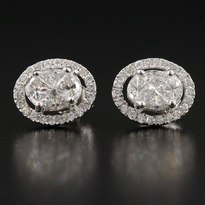 14K 1.91 CTW Diamond Stud Earrings