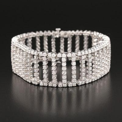 14K 11.55 CTW Diamond Ladder Bracelet