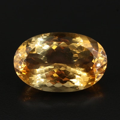 Loose 74.66 CT Oval Faceted Citrine