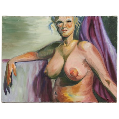 Oil Painting of Female Nude, Late 20th to 21st Century