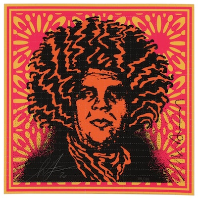 """Shepard Fairey Giclee Print """"Psychedelic Andre - Endless Summer Variant"""", 2020"""