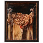"Yves Lonchampt Acrylic Painting ""St. Serapion"", 1997"