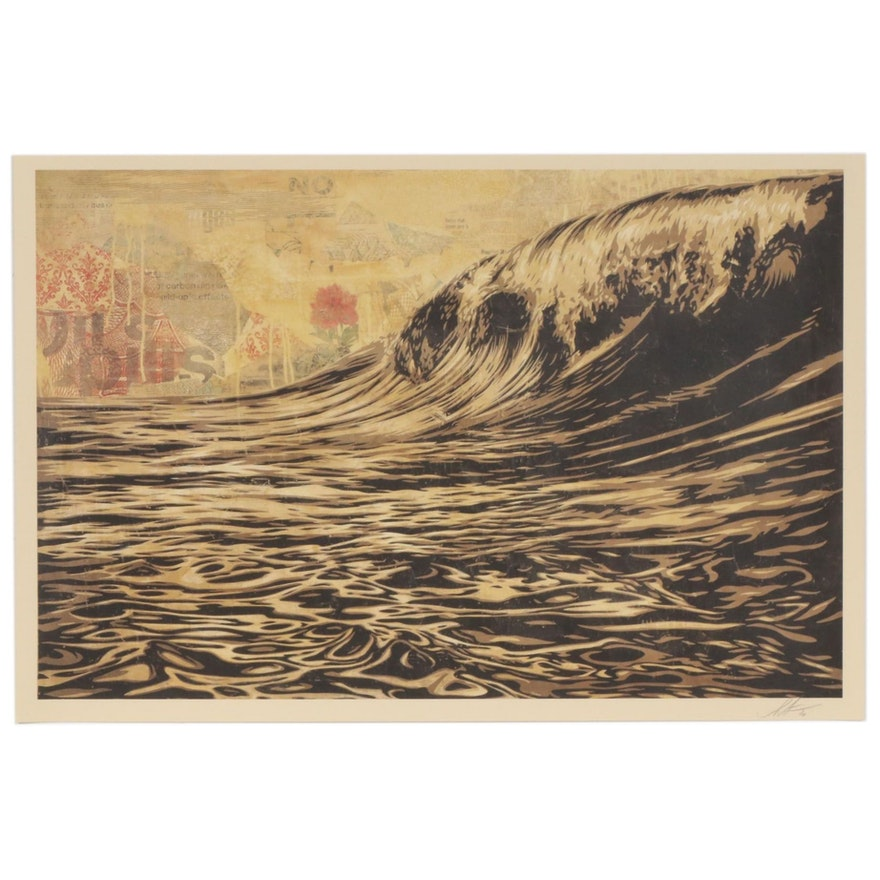 "Shepard Fairey Offset Print ""Dark Wave"", 2020"