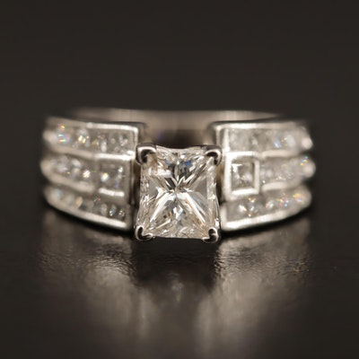 Platinum 2.25 CTW Diamond Ring