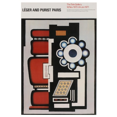 "Tate Gallery Offset Lithograph Poster ""Leger and Purist Paris"", 1970"