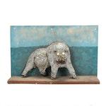 Folk Art Animal Sculpture on Wood