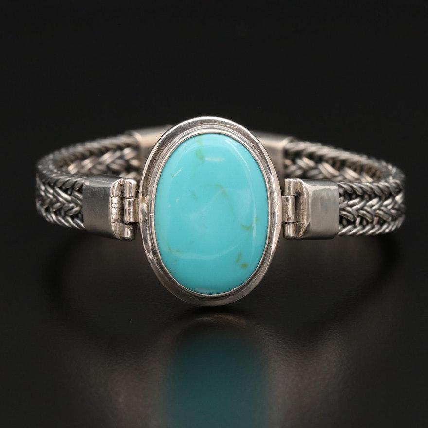 Sterling Silver Imitation Turquoise Bracelet