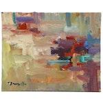 "Jose Trujillo Abstract Oil Painting ""Wild Dreams"", 2015"