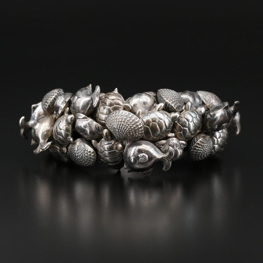 Sterling Silver Ocean Themed Bracelet