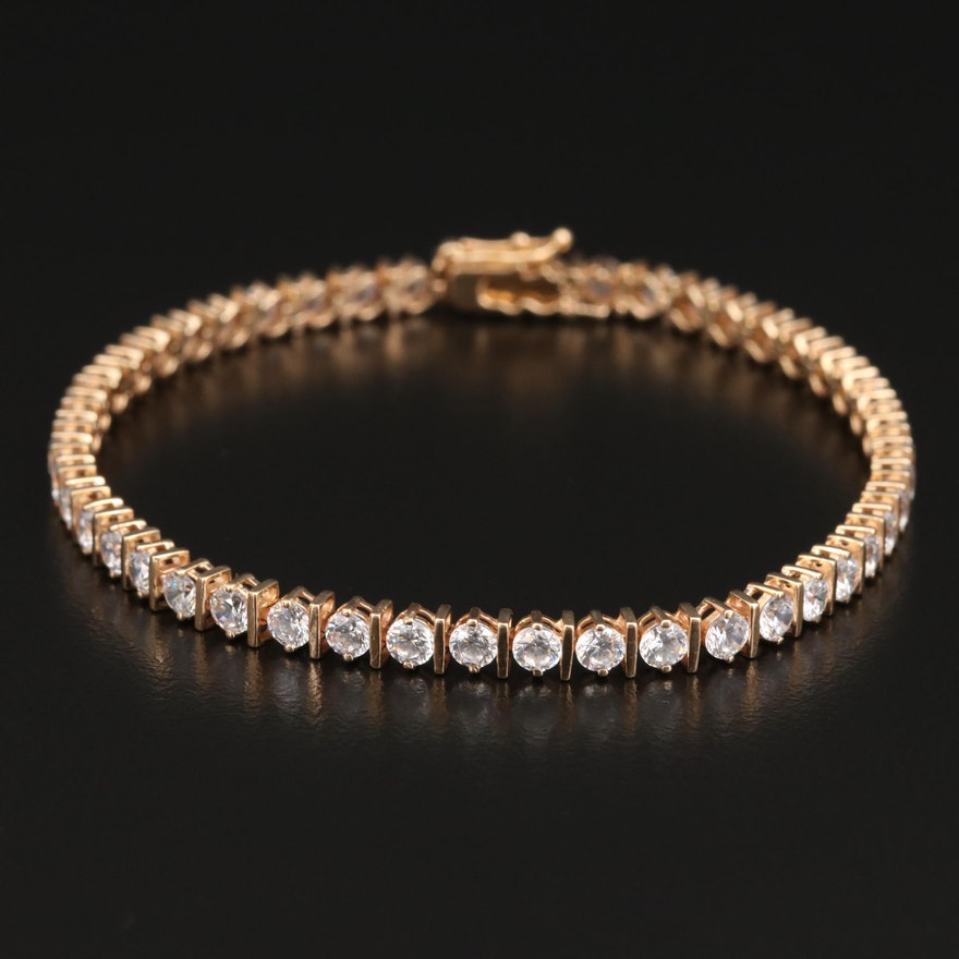 14K Cubic Zirconia Tennis Bracelet