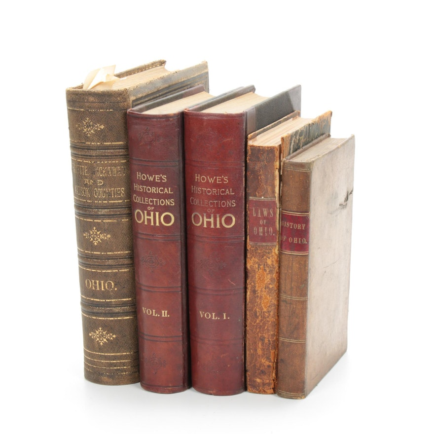 """First Edition """"A History of the State of Ohio"""" and Other History Books, 19th C."""