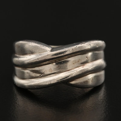 Sterling Silver Crossover Band